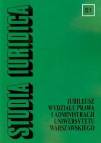 Studia Iuridica. Tom 51 - okładka książki