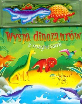 Wyspa dinozaurów. Książka z magnesami - okładka książki