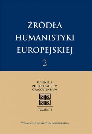 Źródła humanistyki europejskiej. - okładka książki