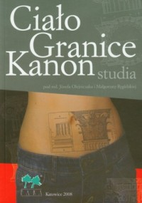 Ciało. Granice. Kanon - studia - okładka książki