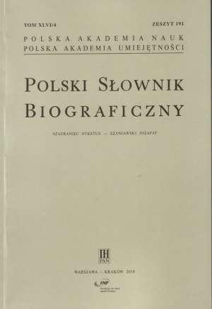 Polski Słownik Biograficzny nr - okładka książki