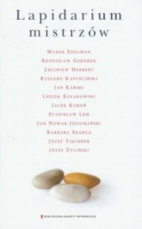 Lapidarium mistrzów - okładka książki