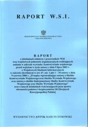 Raport W.S.I. - okładka książki
