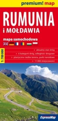 Rumunia i Mołdawia (mapa samochodowa - okładka książki