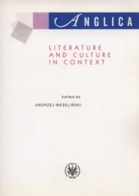 Anglica. Poz. 19. Literature and culture in context - okładka książki