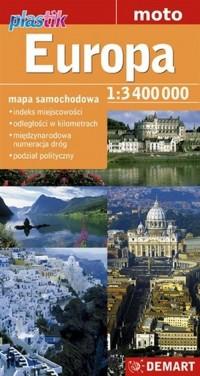 Europa. Mapa samochodowa - okładka książki