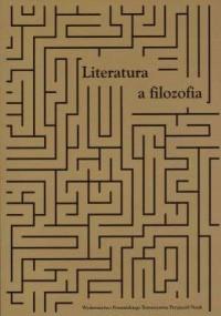 Literatura a filozofia - okładka książki