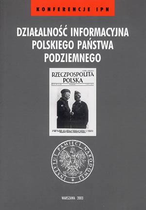 Działalność informacyjna Polskiego - okładka książki