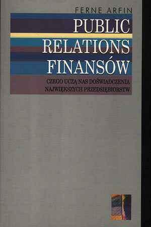 Public relations finansów - okładka książki