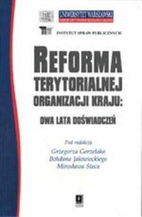 Reforma terytorialnej organizacji - okładka książki