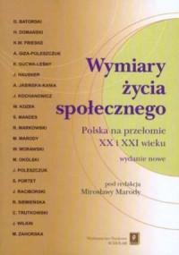 Wymiary życia społecznego. Polska - okładka książki