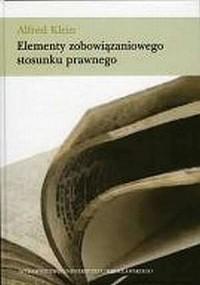 Elementy zobowiązaniowego stosunku prawnego - okładka książki