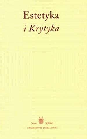 Estetyka i Krytyka nr 6 - okładka książki