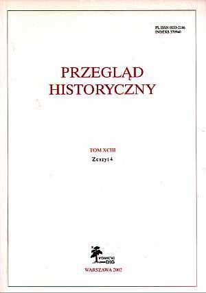 Przegląd Historyczny. Tom XCIII. - okładka książki