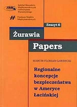 Regionalne koncepcje bezpieczeństwa - okładka książki