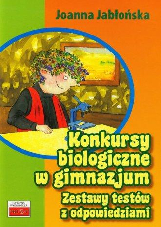 Konkursy biologiczne w gimnazjum - okładka podręcznika
