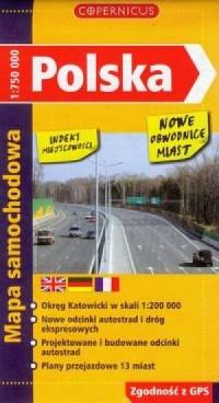 Polska (mapa samochodowa) - okładka książki
