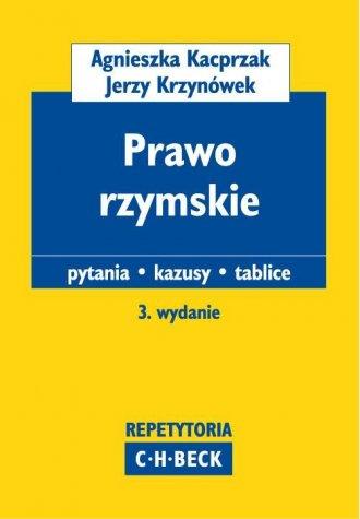ksi��ka -  Prawo rzymskie - Agnieszka Kacprzak