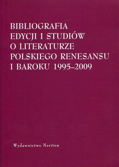 Bibliografia edycji i studiów o - okładka książki