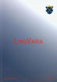 Lingvaria nr 1 (11) 2011 - okładka książki