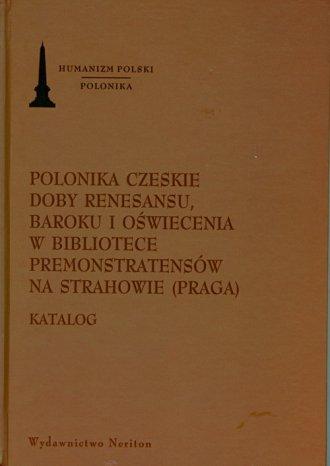 Polonika Czeskie doby renesansu, - okładka książki