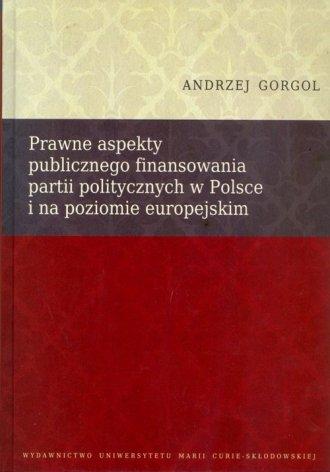Prawne aspekty publicznego finansowania - okładka książki
