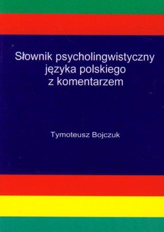 Słownik psycholingwistyczny języka - okładka książki