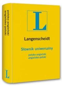 Słownik uniwersalny polsko-angielski, angielsko-polski - okładka podręcznika