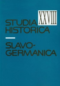 Studia historica slavo-germanica XXVIII - okładka książki