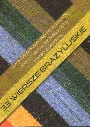 33 wiersze Brazylijskie - okładka książki