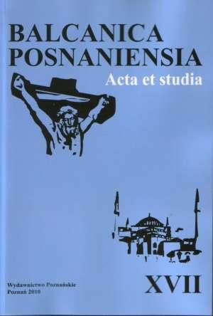 Balcanica Posnaniensia. Acta et - okładka książki