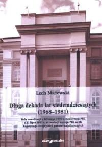 Długa dekada lat siedemdziesiątych - okładka książki