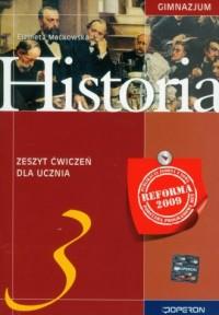 Historia. Klasa 3. Gimnazjum. Zeszyt ćwiczeń - okładka podręcznika