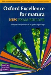 Oxford Exellence for Matura. New Exam builder. Podręcznik z repetytorium (+ CD) - okładka podręcznika