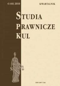 Studia prawnicze KUL, 4(44)/2010 - okładka książki