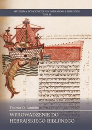 Wprowadzenie do hebrajskiego biblijnego - okładka książki