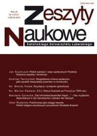 Zeszyty Naukowe KUL 4/2010 - okładka książki