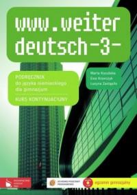 www.weiter deutsch 3. Język niemiecki. - okładka podręcznika