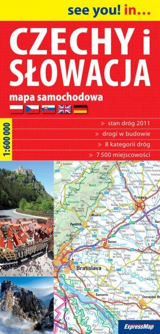 Czechy i Słowacja (mapa samochodowa - okładka książki