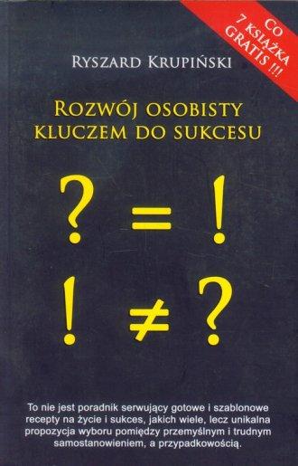 Rozwój osobisty kluczem do sukcesu - okładka książki
