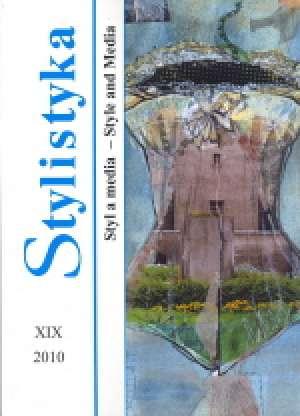 Stylistyka XIX. Styl a media / - okładka książki