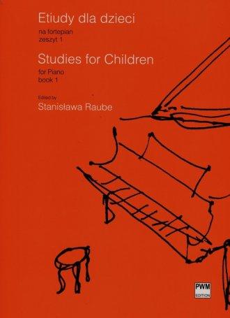 Etiudy dla dzieci na fortepian. - okładka podręcznika