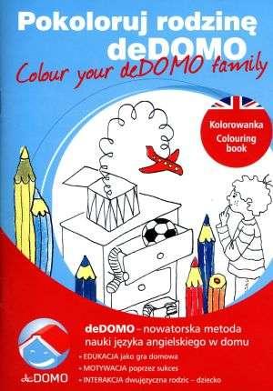 Pokoloruj rodzinę deDOMO / Colour - okładka książki