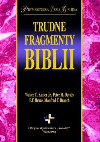 Trudne fragmenty Biblii - okładka książki