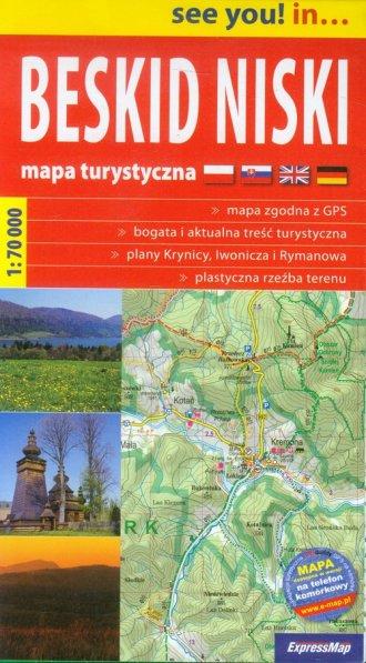 Beskid Niski. Mapa turystyczna - okładka książki