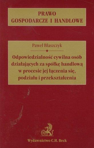 Odpowiedzialność cywilna osób działających - okładka książki
