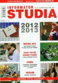 Studia 2012/2013. Informator dla kandydatów na studia - okładka podręcznika
