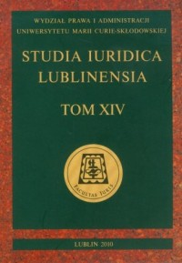 Studia Iuridica Lublinensia. Tom XIV - okładka książki