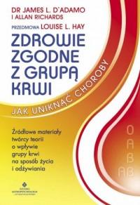 Zdrowie zgodne z grupą krwi - okładka książki