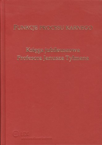 Funkcje procesu karnego - okładka książki